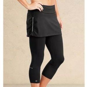 Athleta black 2 in 1 Skirt/Capri combo S